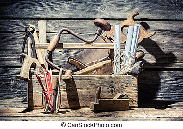 Vintage place of carpenters work