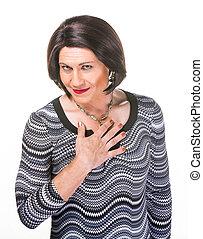 Smiling Hispanic Transgender Person - Grinning Hispanic...