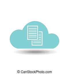 cloud back up icon - back up on cloud icon, vector...