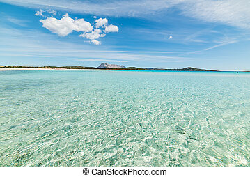 Lu Impostu beach on a cloudy day, Sardinia