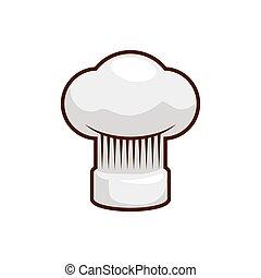 Chefs hat kitchen restaurant icon. Vector graphic - Chefs...