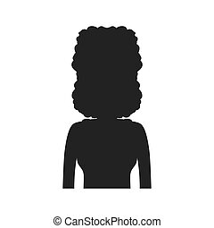 Woman silhouette female avatar person people icon Vector...