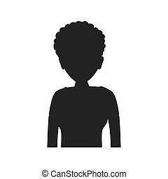 Woman silhouette female avatar person people icon. Vector...