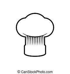 Chefs hat kitchen restaurant icon Vector graphic - Chefs hat...