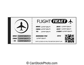 boarding pass icon - flat design boarding pass icon vector...