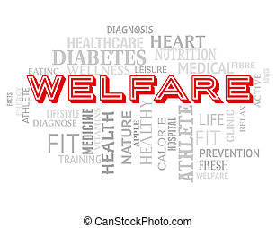 Welfare Words Means Well Being And Health - Welfare Words...