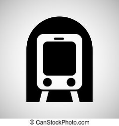 train transportation icon - traveling on train...