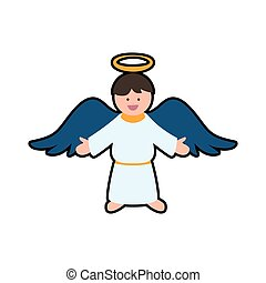 angel cartoon fairy wing heaven icon. Vector graphic - angel...