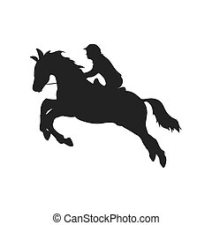 horse animal ridding silhouette sport hobby icon Vector...