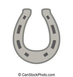 horseshoe metal animal icon Vector graphic - horseshoe metal...