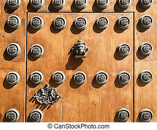 Seville Archbishop Palace - Detail of the main door of the...