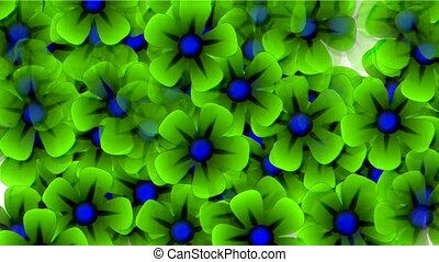 green wild flower flow background