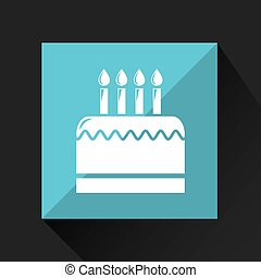 birthday cake icon - birthday cake, celebration party icon,...