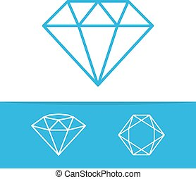 Diamond vector icons set - Vector logo or icon design...