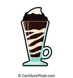 chocolate drink glass sweet icon Vector graphic - chocolate...