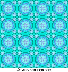 Blue bubble lace Round blue abstract bubbles on a blue...