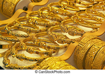 Gold handcraft in Souk of Dubai
