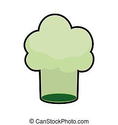 chefs hat green vegan organic icon Vector graphic - chefs...