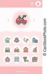 icon set emergency vector