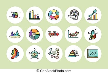 Business graphic icons set,eps10