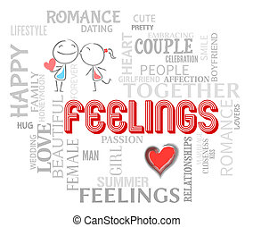 Feelings Couple Means Find Love And Affection - Feelings...