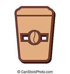 delicious coffee silhouette icon
