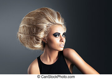 Woman with Futuristic Hairdo