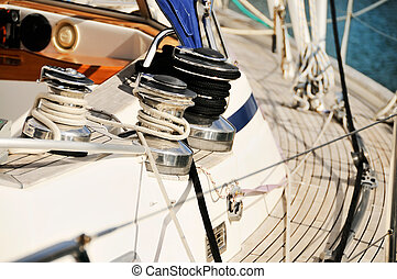 Sailing yacht detail