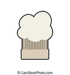 Chefs hat menu kitchen restaurant icon. Vector graphic -...