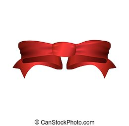 bowtie ribbon label red banner icon Vector graphic - bowtie...