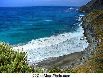 Big Sur California - Hazy day pacific ocean Big Sur...