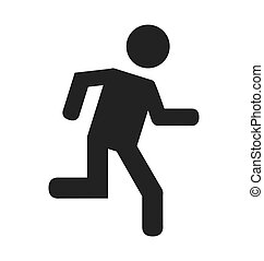 human figure person running