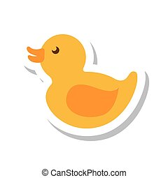 duck toy isolated icon vector illustration design