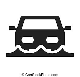car insurance isolated icon