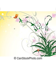 Spring abstract flower ornament