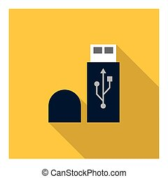 Usb memory icon Technology design Vector graphic -...