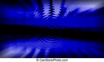 blue light rays and ripple,computer grid web tech background