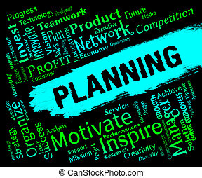 Planning Words Represents Organizer Date And Planner