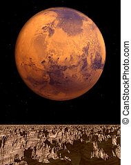 Mars View - A view of mars from another planet