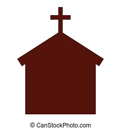 church building silhouette icon