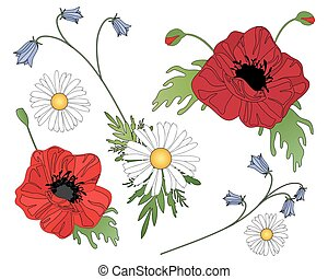 wildflower background - a vector illustration in eps 10...