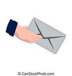 envelope delivery shipping logistic security icon Vector...