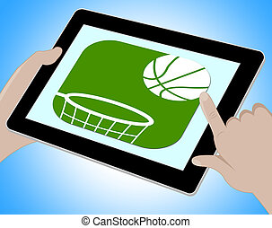 Basketball Online Represents Computing Tablets And Www