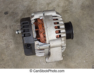 Cracked car alternator - Cracked and old used alternator for...