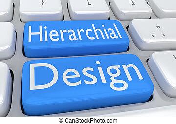 gerarchico, disegno, concetto