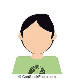 faceless man icon - flat design faceless man icon vector...