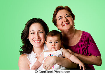 3 Generations of women - Beautiful happy three 3 generations...