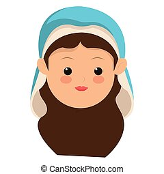 virgin mary icon - flat design virgin mary icon vector...