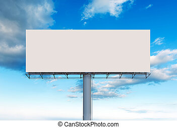 Blank outdoor billboard - Blank billboard ready for new...