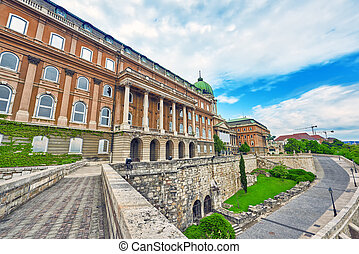 Budapest Royal Castle at day time. Hungary. - Budapest Royal...
